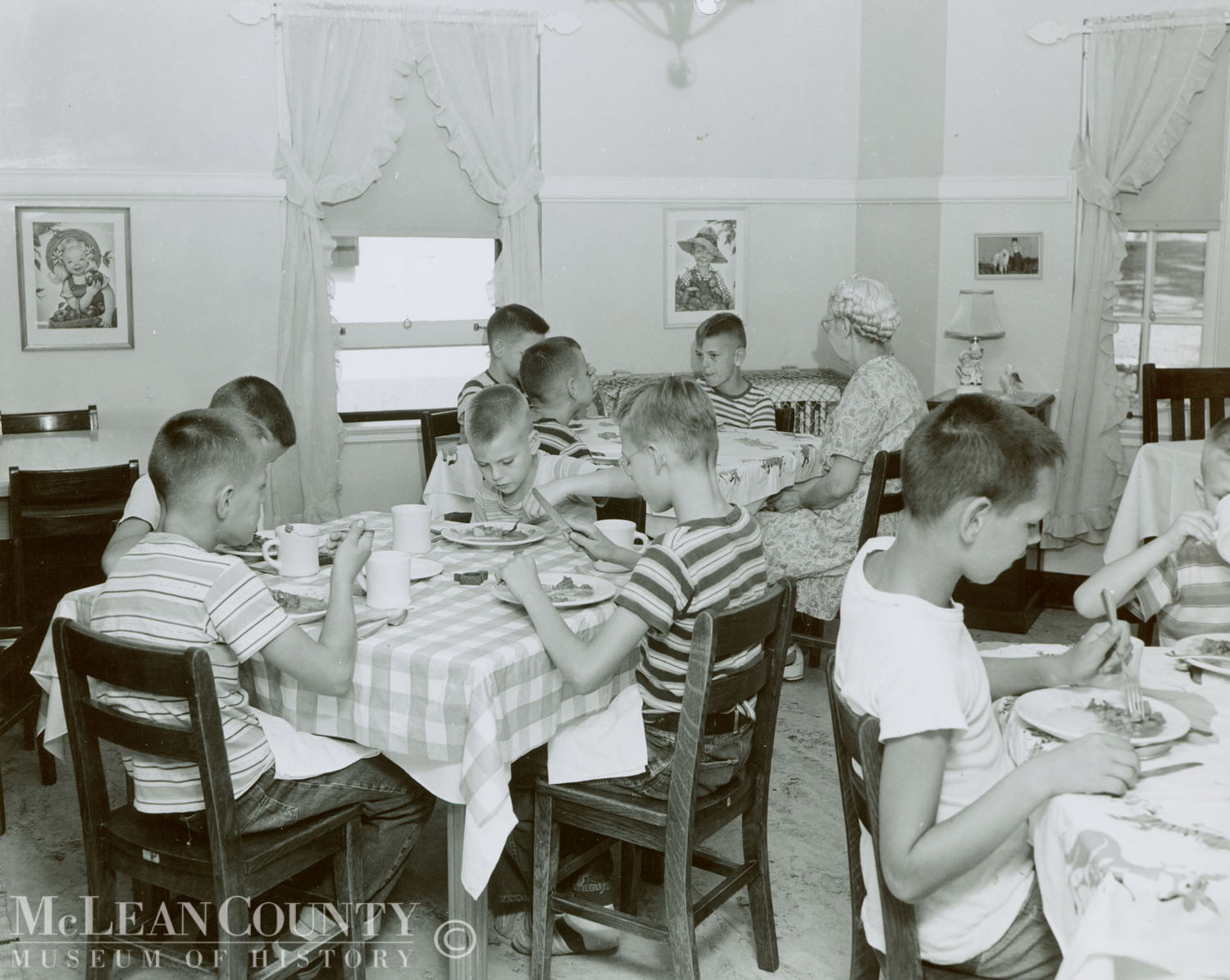Illinois Soldiers' and Sailors' Children's School.  Betsy Ross Cottage, 1955