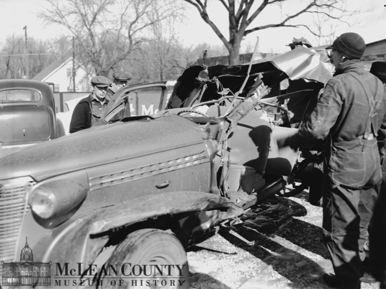 On Friday, February 3, 1939, four area men were killed in a late evening automobile accident on U.S. Route 66, about 2 miles south of Chenoa. The crash took the lives of Carl Weymouth, owner and driver of the car, Paul Trunk, Sr., Nelson Francis, and Claude M.
