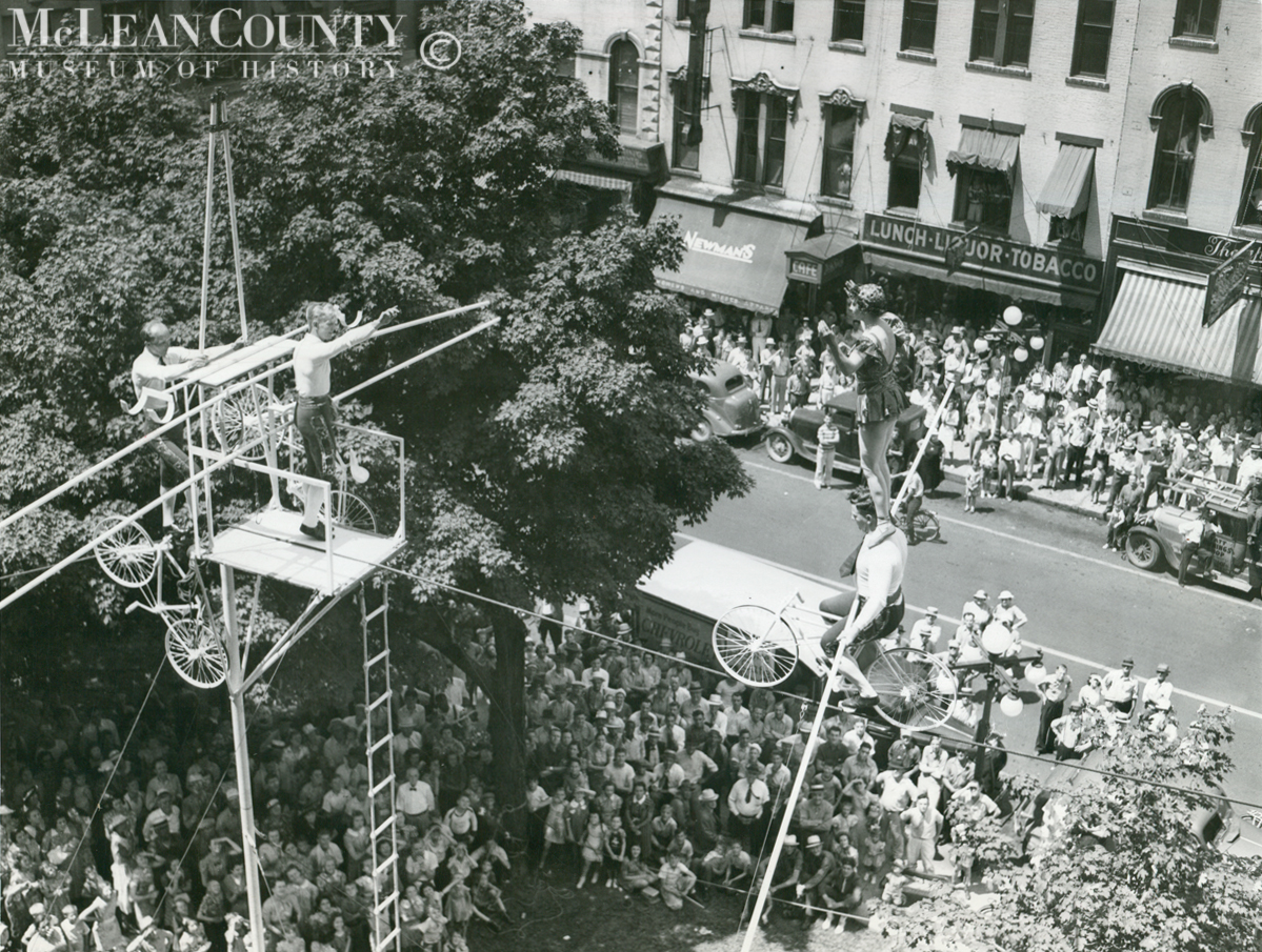 Photo of the Week, 91: High-Wire Act on the Square, 1939