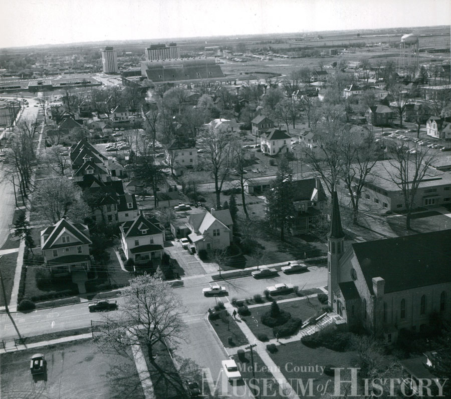 Ariel view of Normal, 1966.
