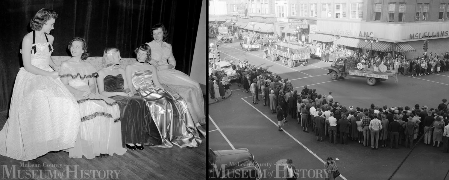 Bloomington High School homecoming, 1949.