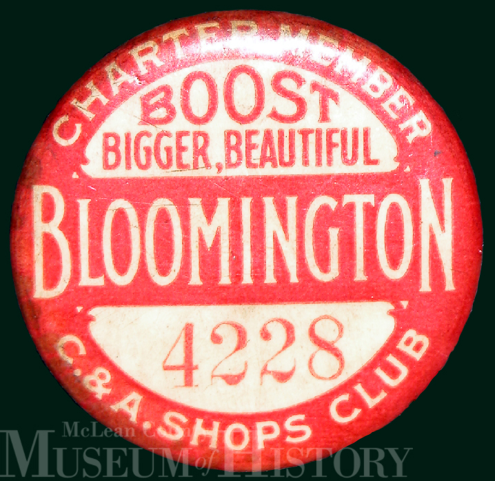 Bloomington expansion button, 1910.