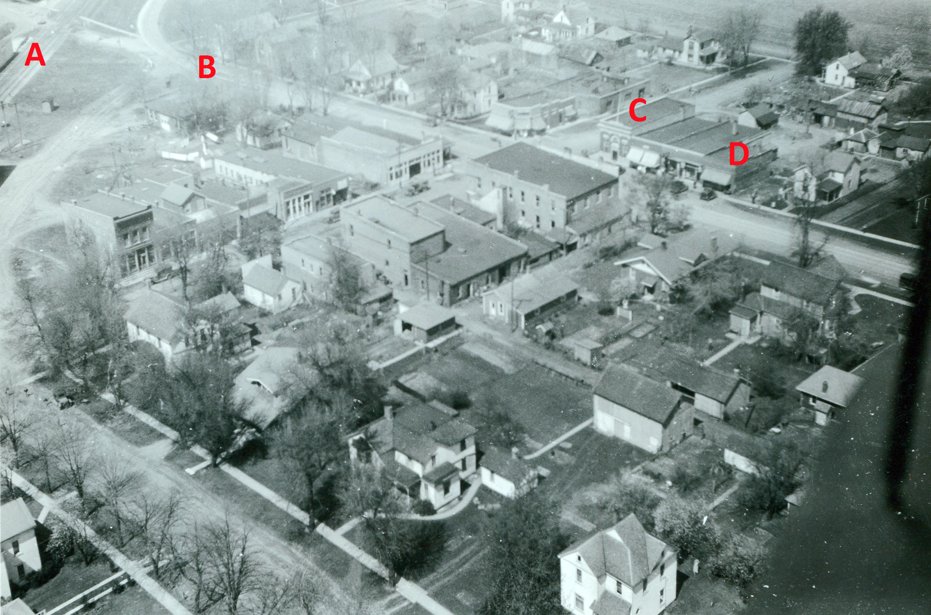 Aerial view of Carlock, 1930.