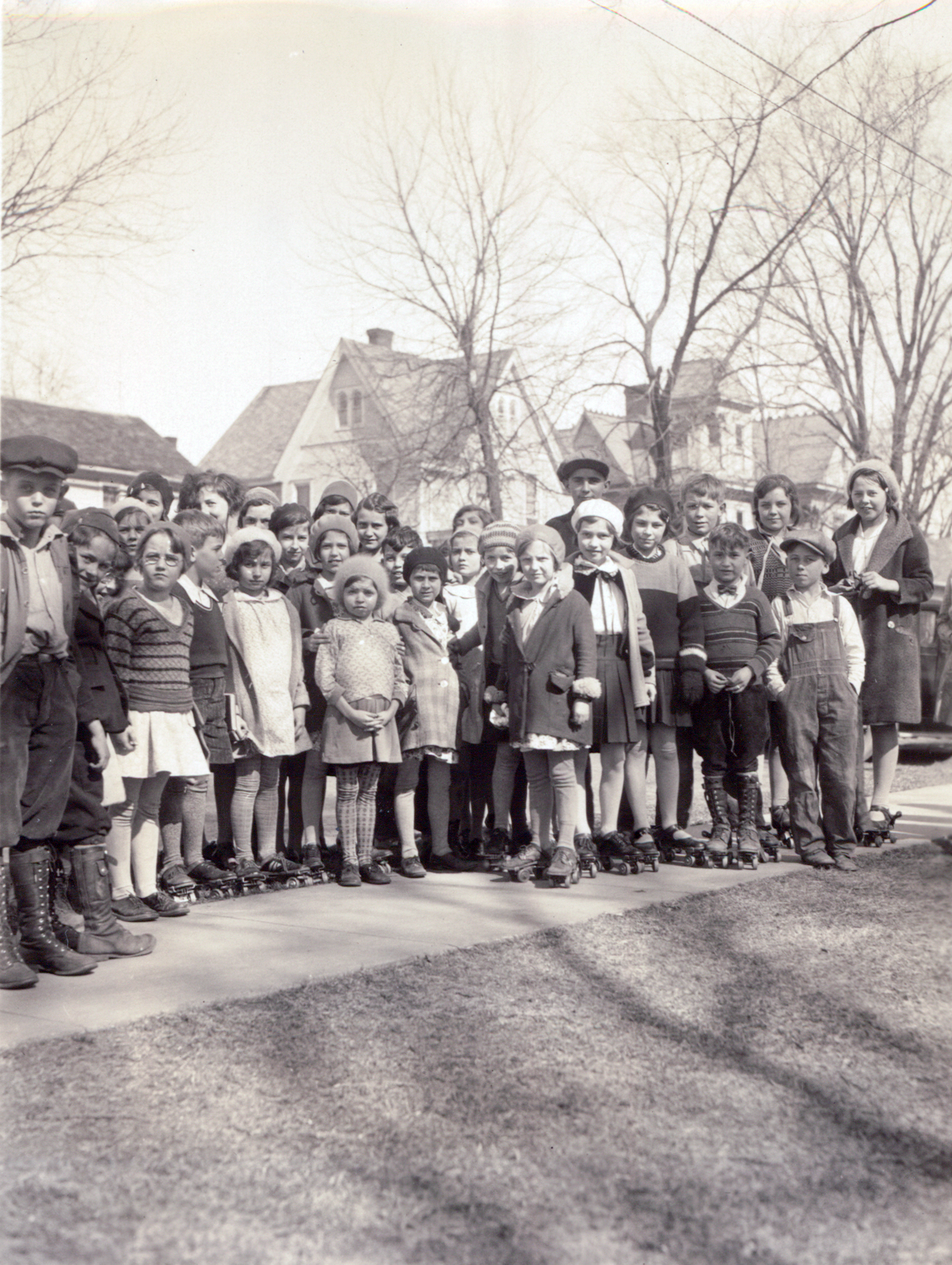 Children with skates, undated.