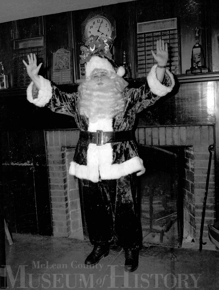 Action shot of Santa, 1953.