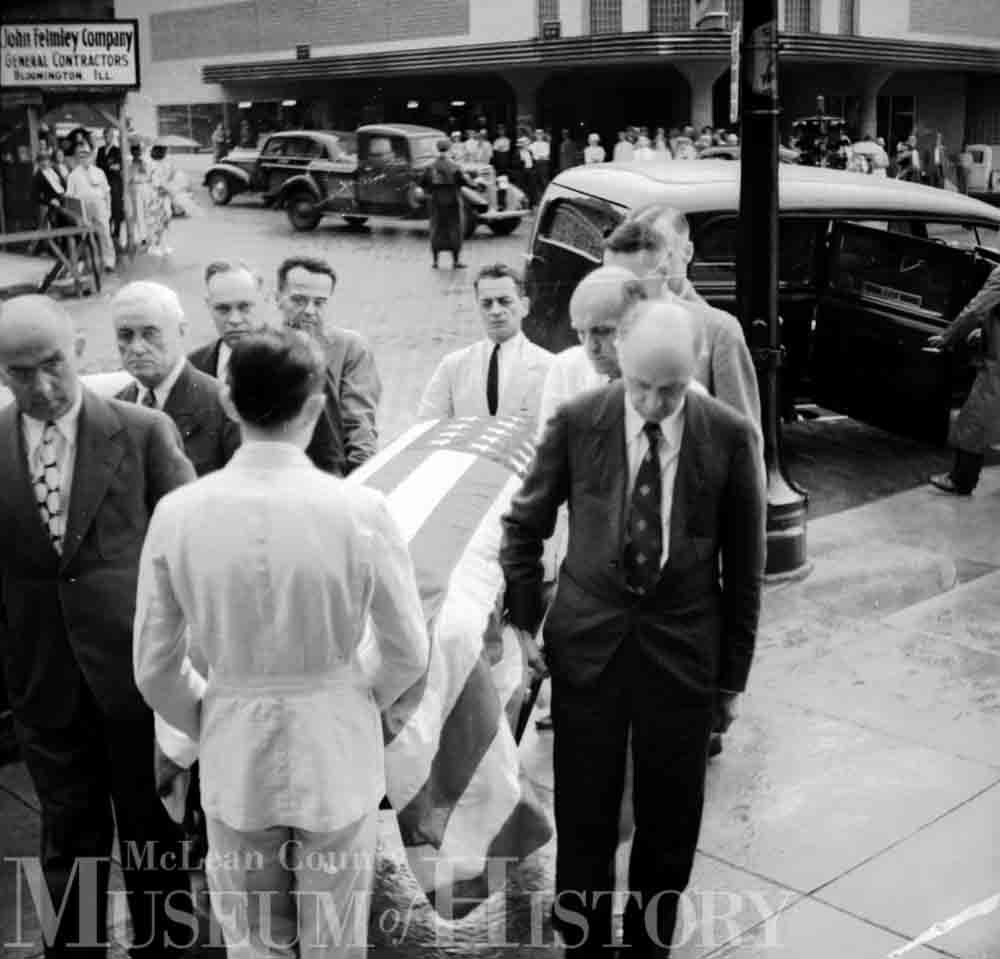 Funeral procession for Joseph Fifer, 1938.
