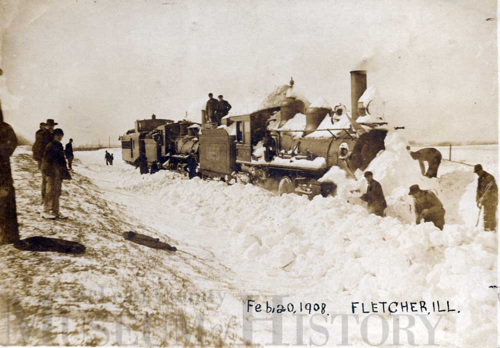 Train buried in snow, 1908