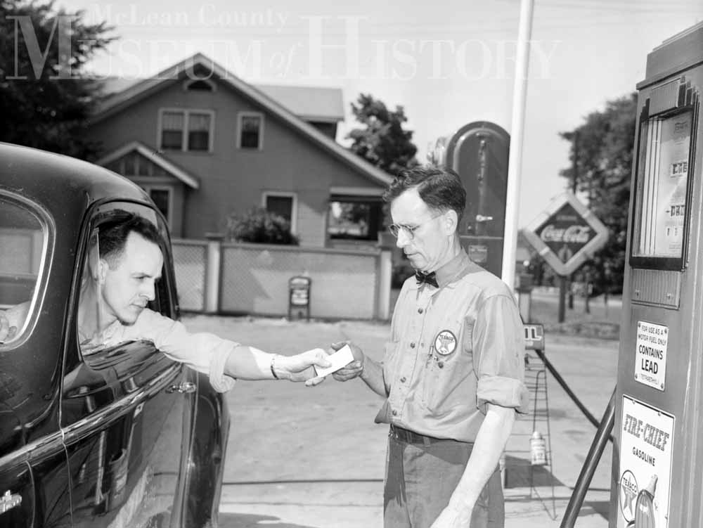 Gas rationing, 1943.