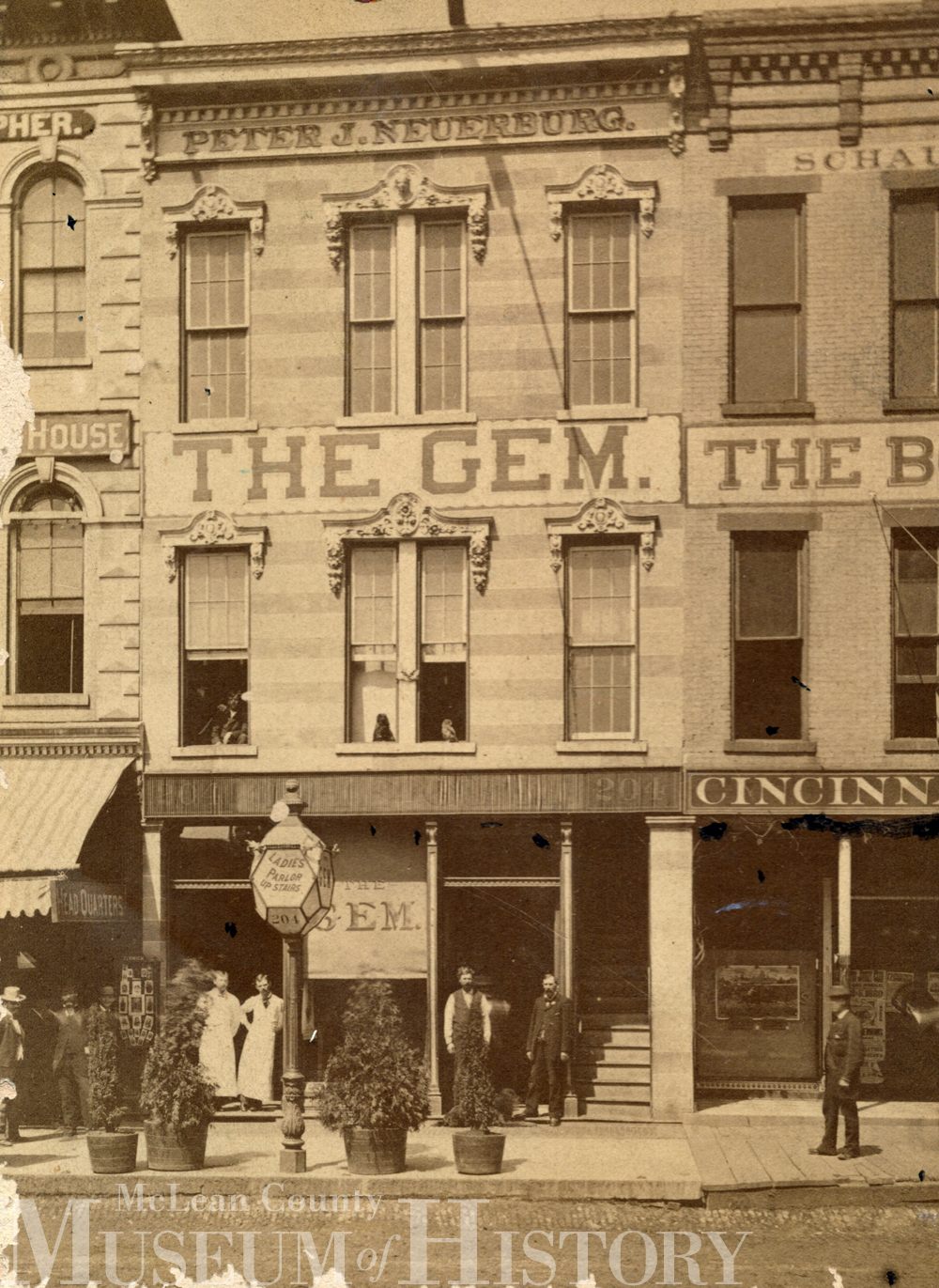 The Gem Saloon, 1880.