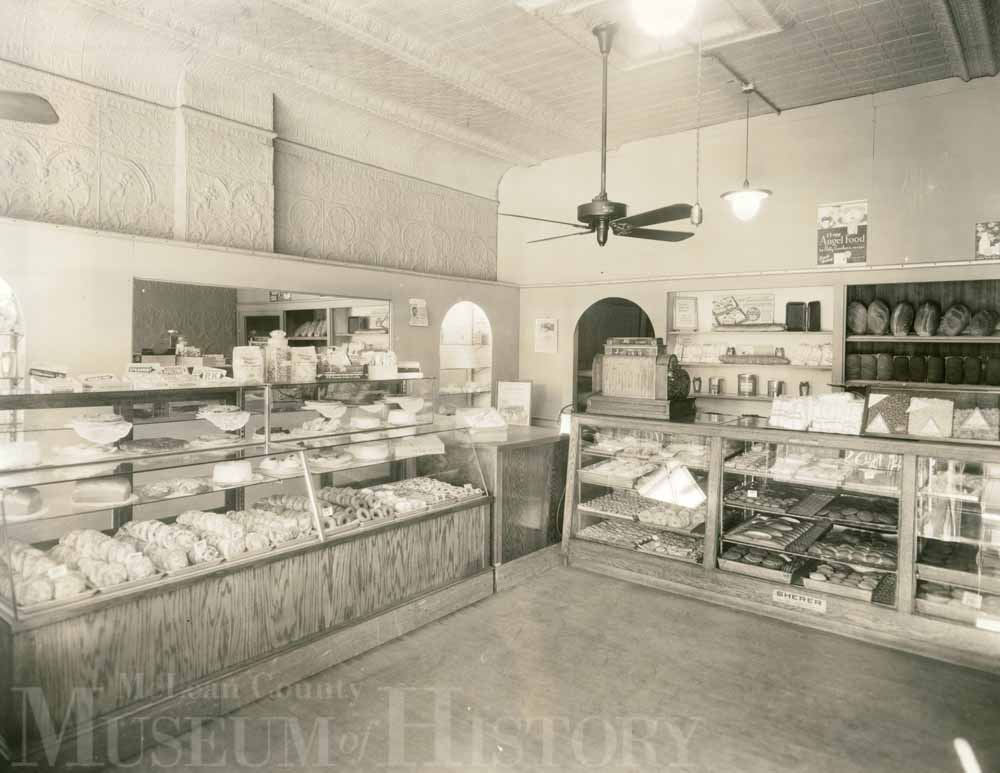 Inside of Gronemeier bakery, 1935.