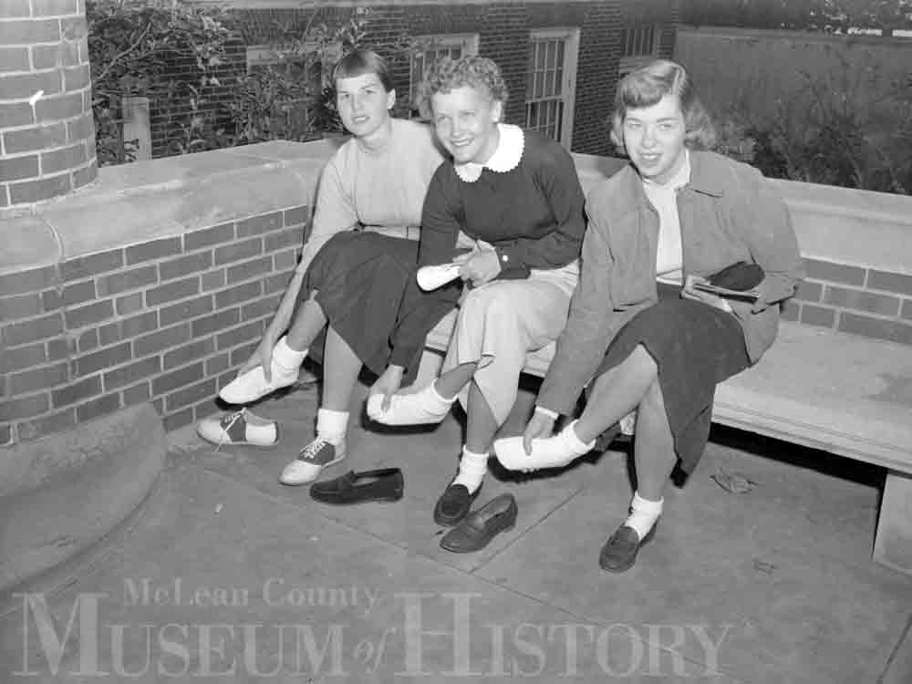 ISU freshamn with sore feet, 1953.