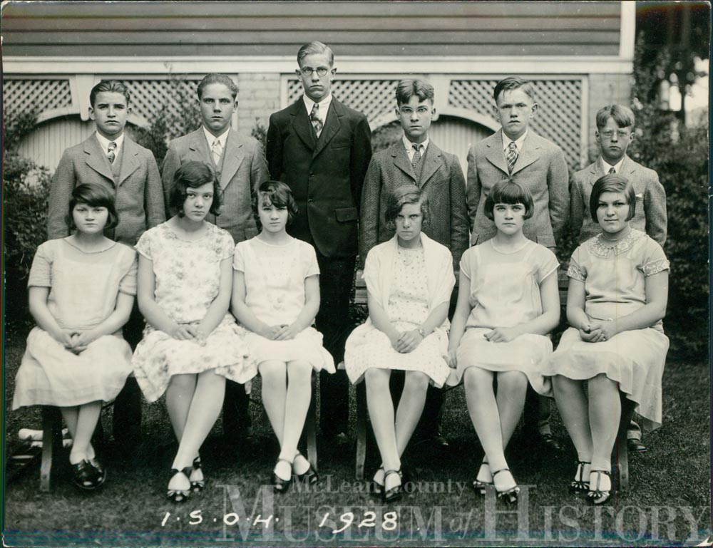 Illinois Soldiers' and Sailors' Children's School eight grade graduates, 1928.