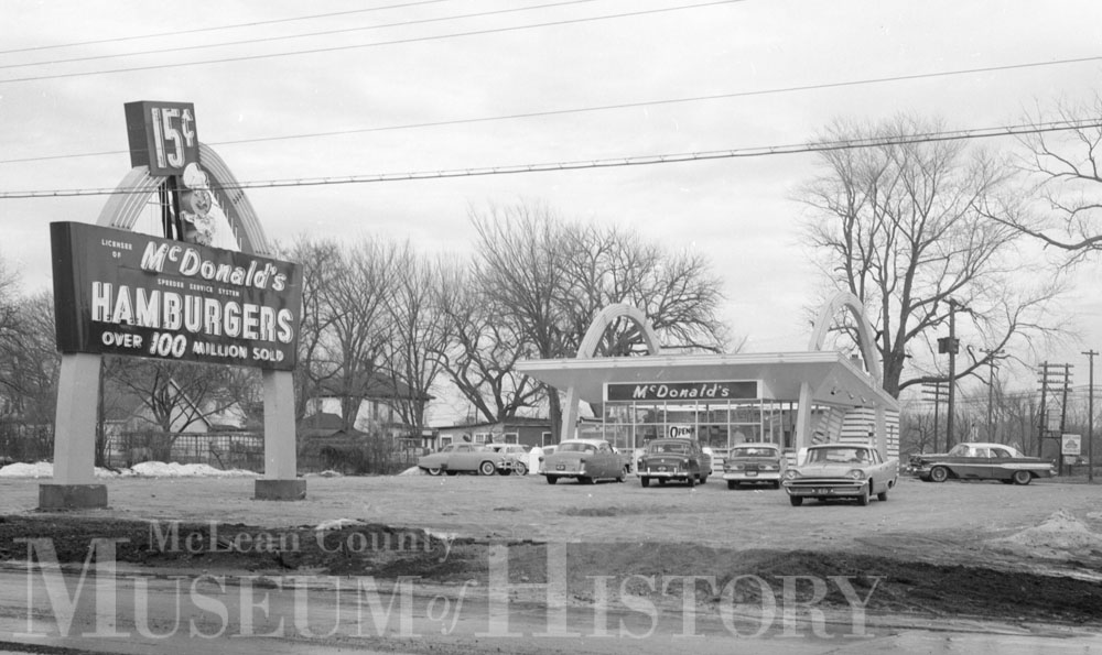 First McDonald's in Normal, 1959.