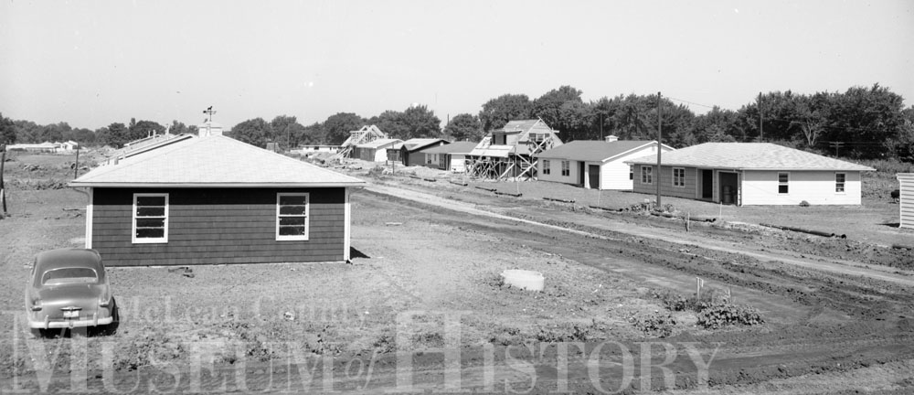 Meadowbrook under construction, 1954.