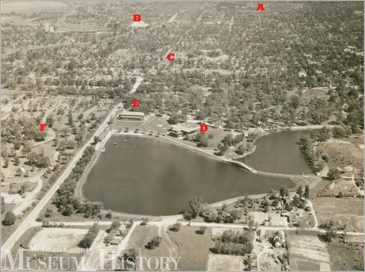 Aerial view of Miller Park, undated.