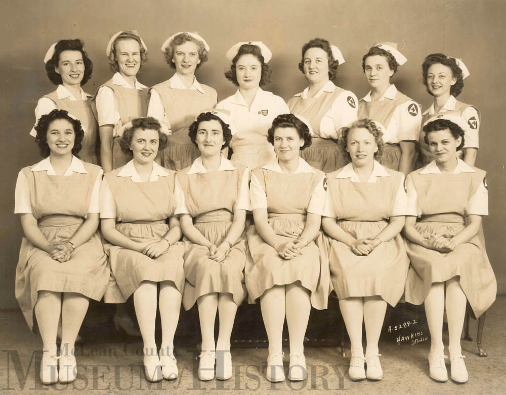 Red Cross WWII nurses, 1943.