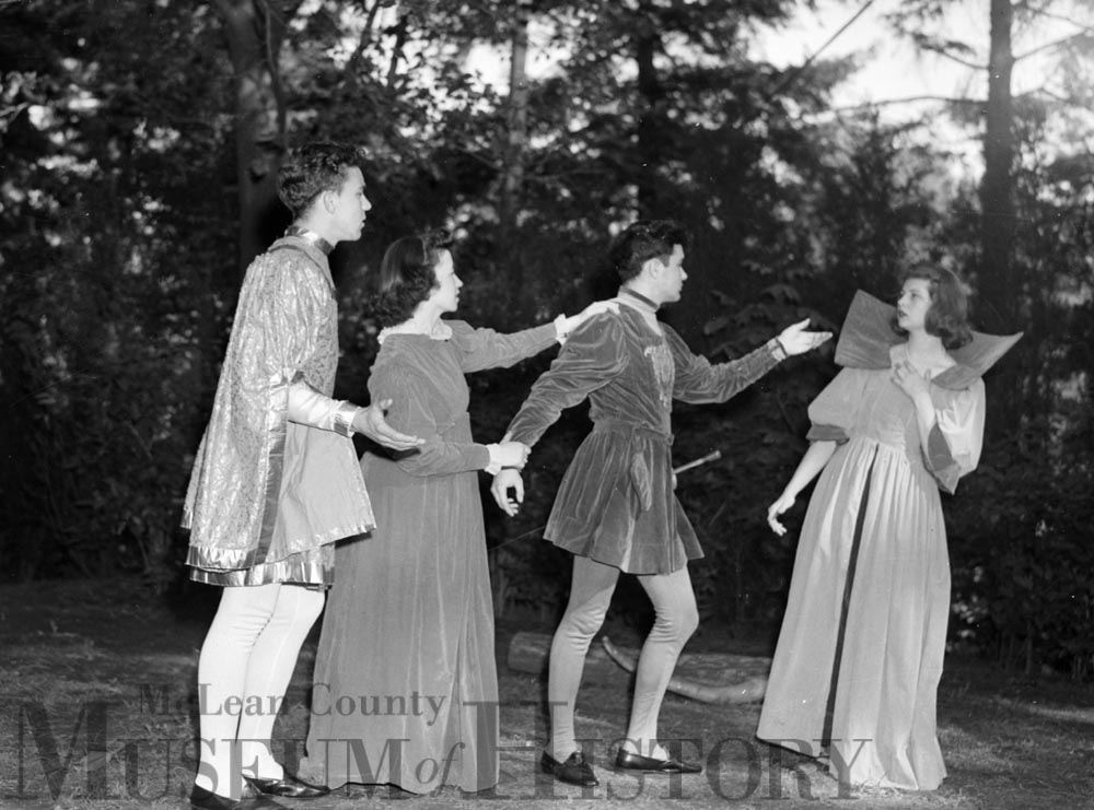 "Illinois State Normal University staged Shakespeare's ""A Midsummer Night's Dream"", 1941."