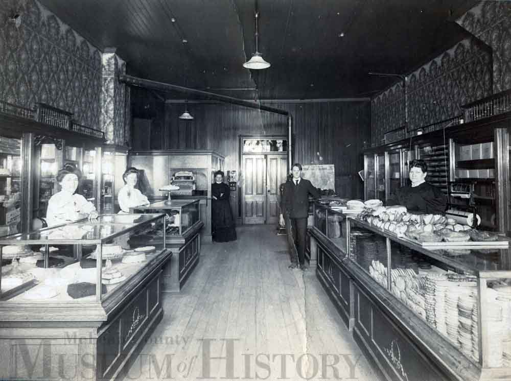Inside of Wickizer Bakery, undated
