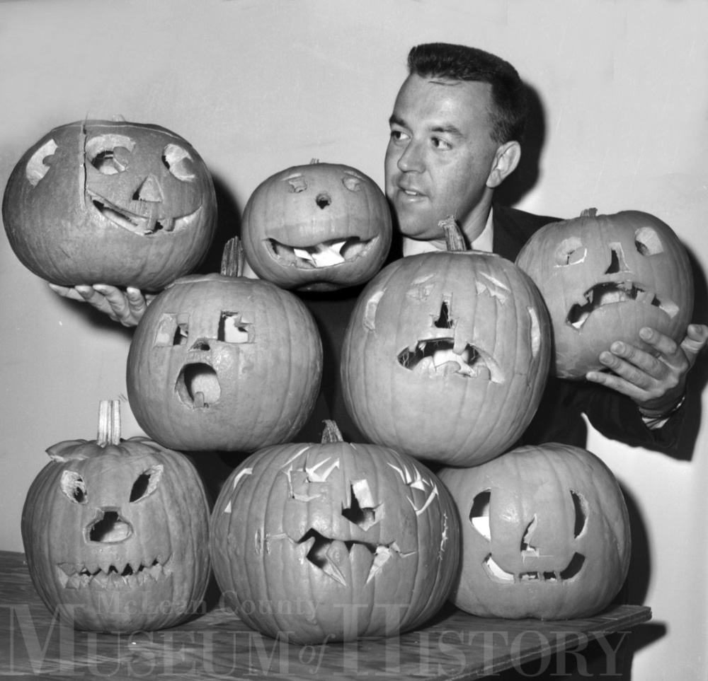 Normal Parks & Rec winning pumpkins, 1963.
