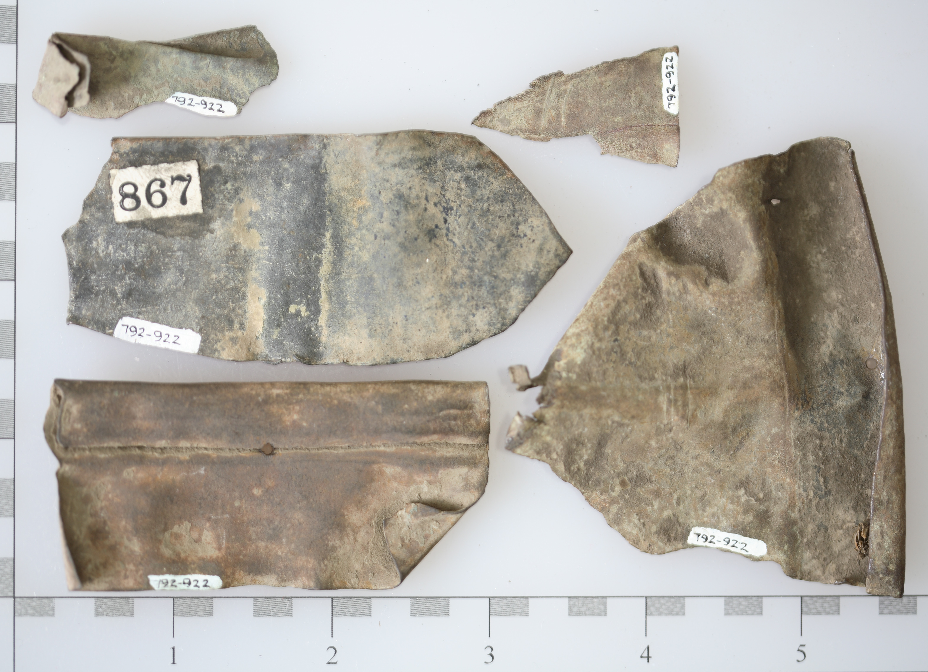 brass metal fragments, Fox Fort Site Massacre, McLean County Museum of History Collections