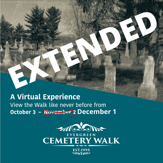 Virtual Evergreen Cemetery Walk through December 1