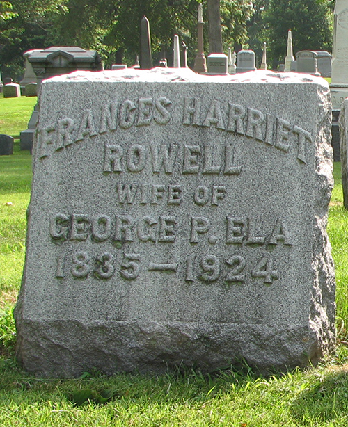 Frances Harriet Rowell Ela