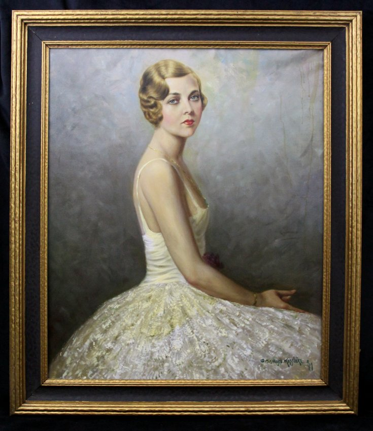 Among the many treasures held by the McLean County Museum of History is this portrait of Irene Delroy (pictured above) painted by George Maillard Kesslere in 1929. It hung in the Ithaca, NY, home of her second husband Gerard Oberrender until his death in 1998.