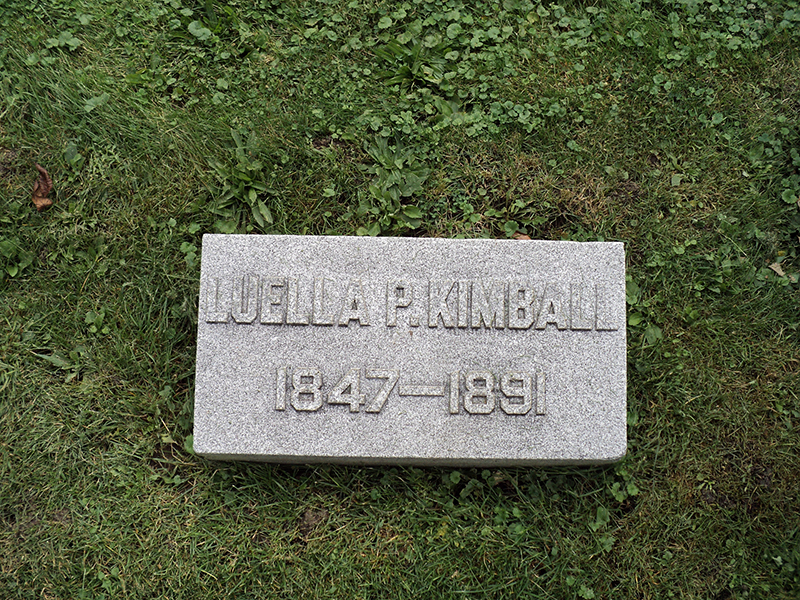 headstone for Luella Kimball