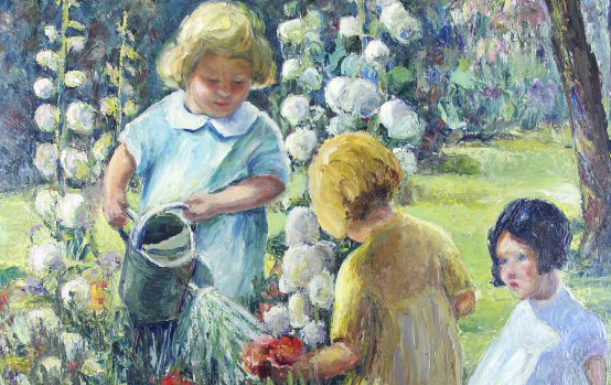 In the Garden painting by Nina Kickbusch Griffin
