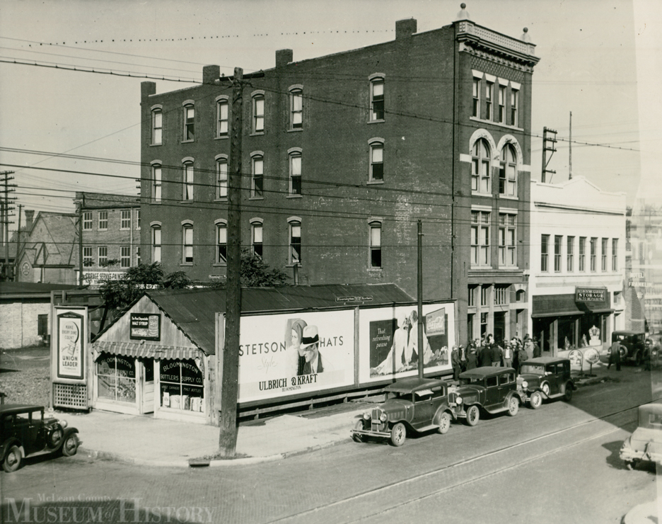 Seen here is the 100 block of N. Madison St. in 1931